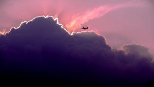 Pink Sunset & Airplane | Heidi McBain, Women's Counselor & Online Therapist in Flower Mound, Texas